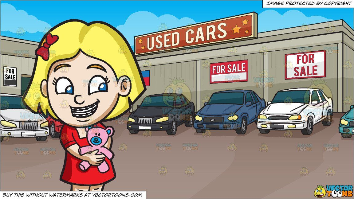 clipart #cartoon A Girl With Braces Hugging Her Teddy and.