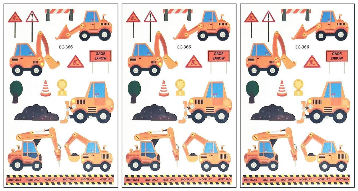 Amazon.com: PARITA Small Tattoos Construction Vehicles.