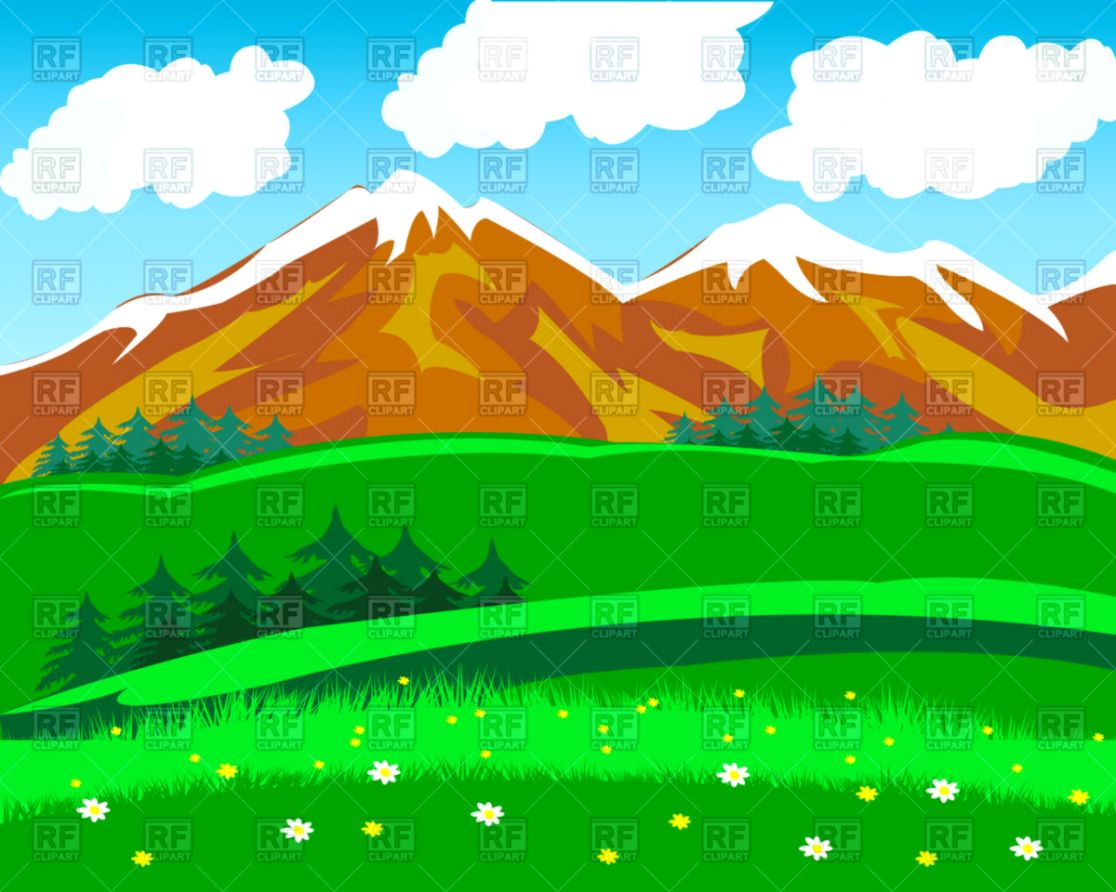 Mountain Background Clipart.