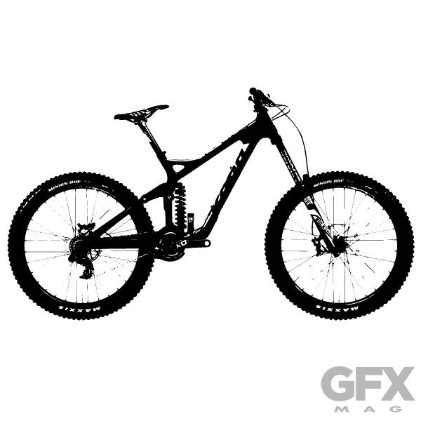 Mountain Bike Clipart 3.