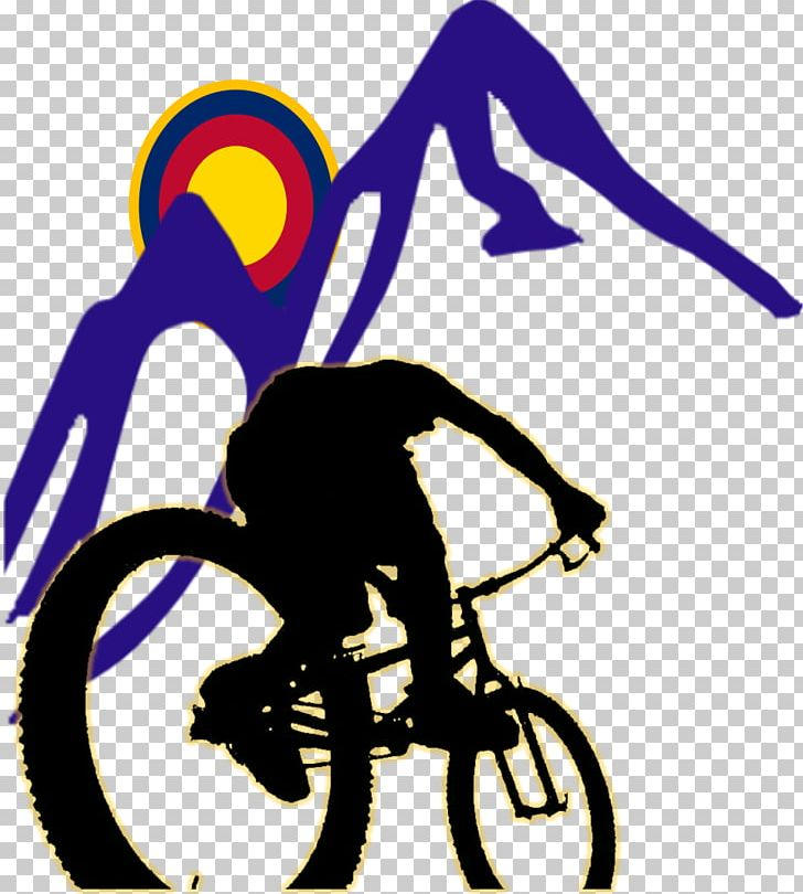 Mountain Bike Bicycle Downhill Mountain Biking Silhouette PNG.