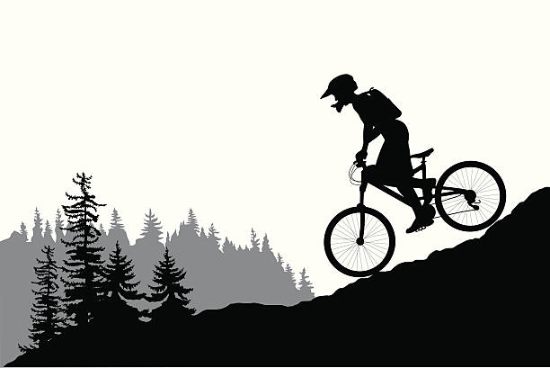Best Mountain Bike Illustrations, Royalty.