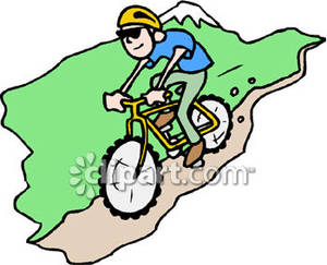 mountain biking vector background for poster mountain. a man.