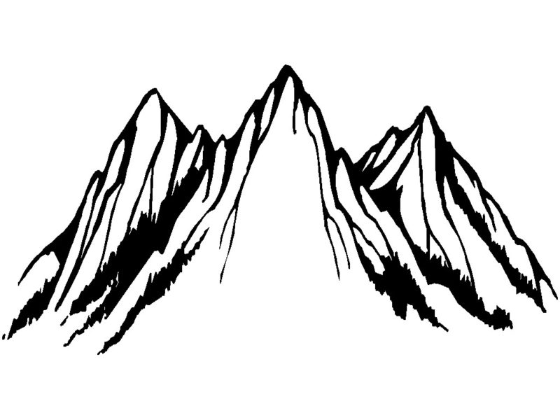 Black Mountain Clipart.