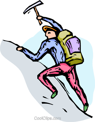 Mountain climber Royalty Free Vector Clip Art illustration.