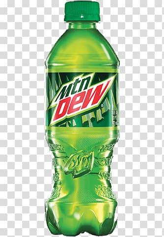 Mtn Dew plastic bottle illustration, Mountain Dew Soda.