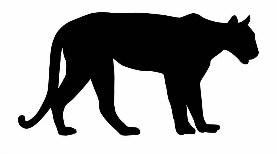 Mountain Lion Black Silhouette.