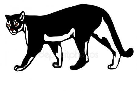 Mountain lion silhouette clipart 2 » Clipart Portal.