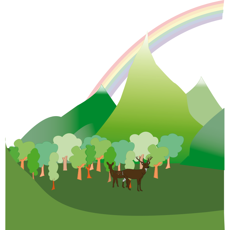 Free Green Mountain Clipart Image.