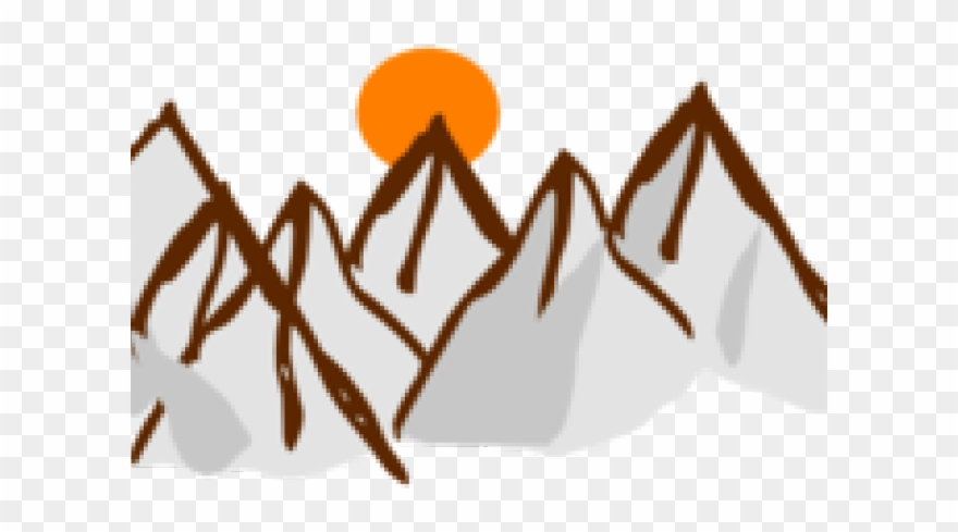 Range Clipart Mountain Sunset.