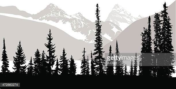 Clipart Mountain Tree Background Clipground