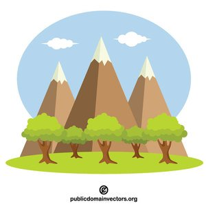 393 mountain free clipart.