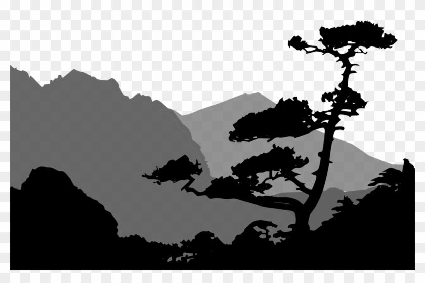 Mountain Clipart Silhouette.