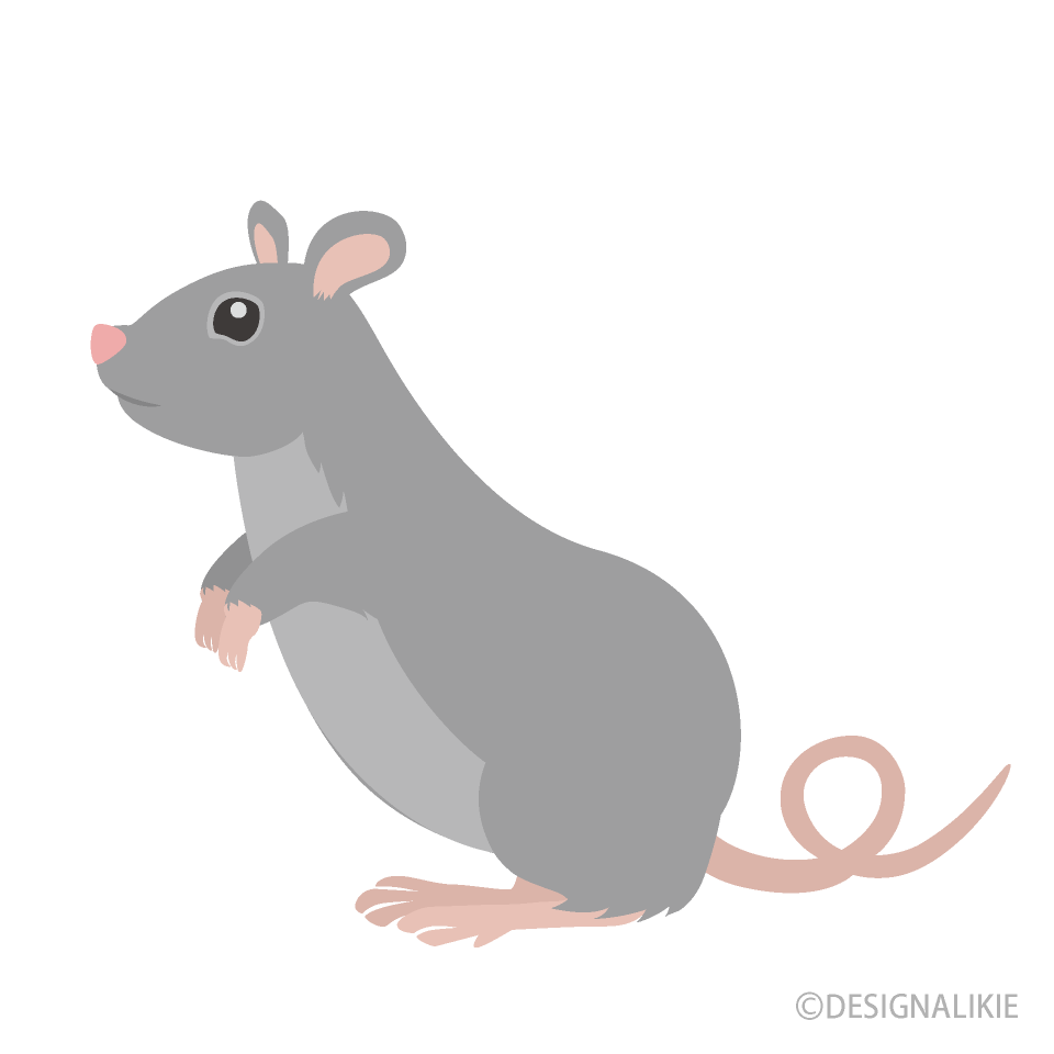 Free Standing Mouse Clipart Image|Illustoon.