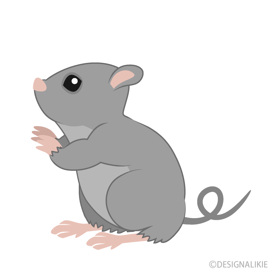 Free Looking up Mouse Clipart Image|Illustoon.