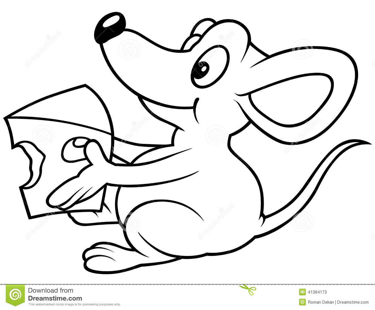 182 Mouse Black And White free clipart.