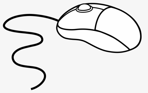 Free Computer Mouse Black And White Clip Art with No.