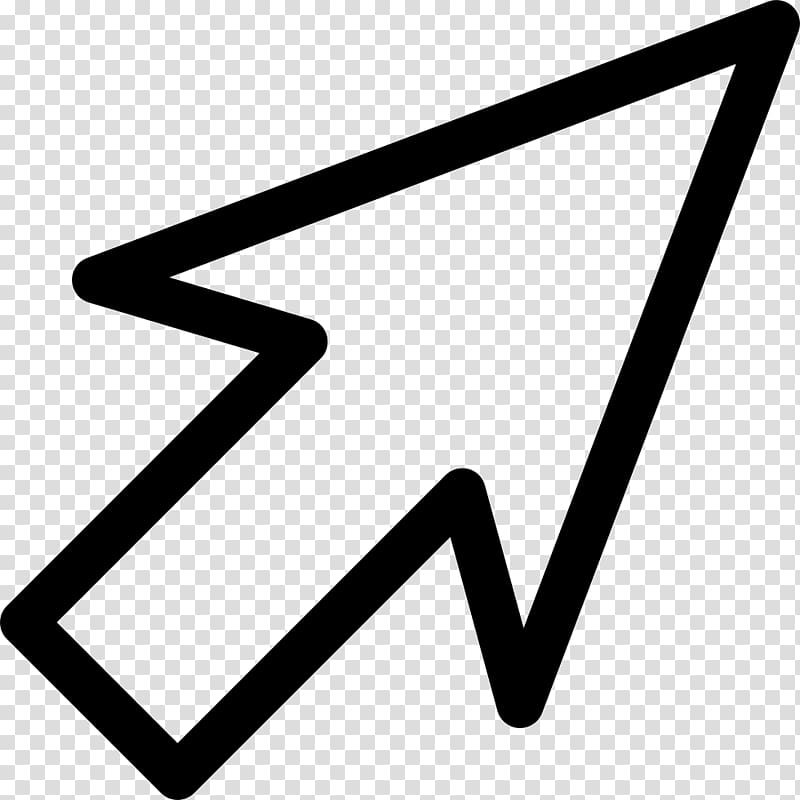 White arrow sign illustration, Computer mouse Pointer.