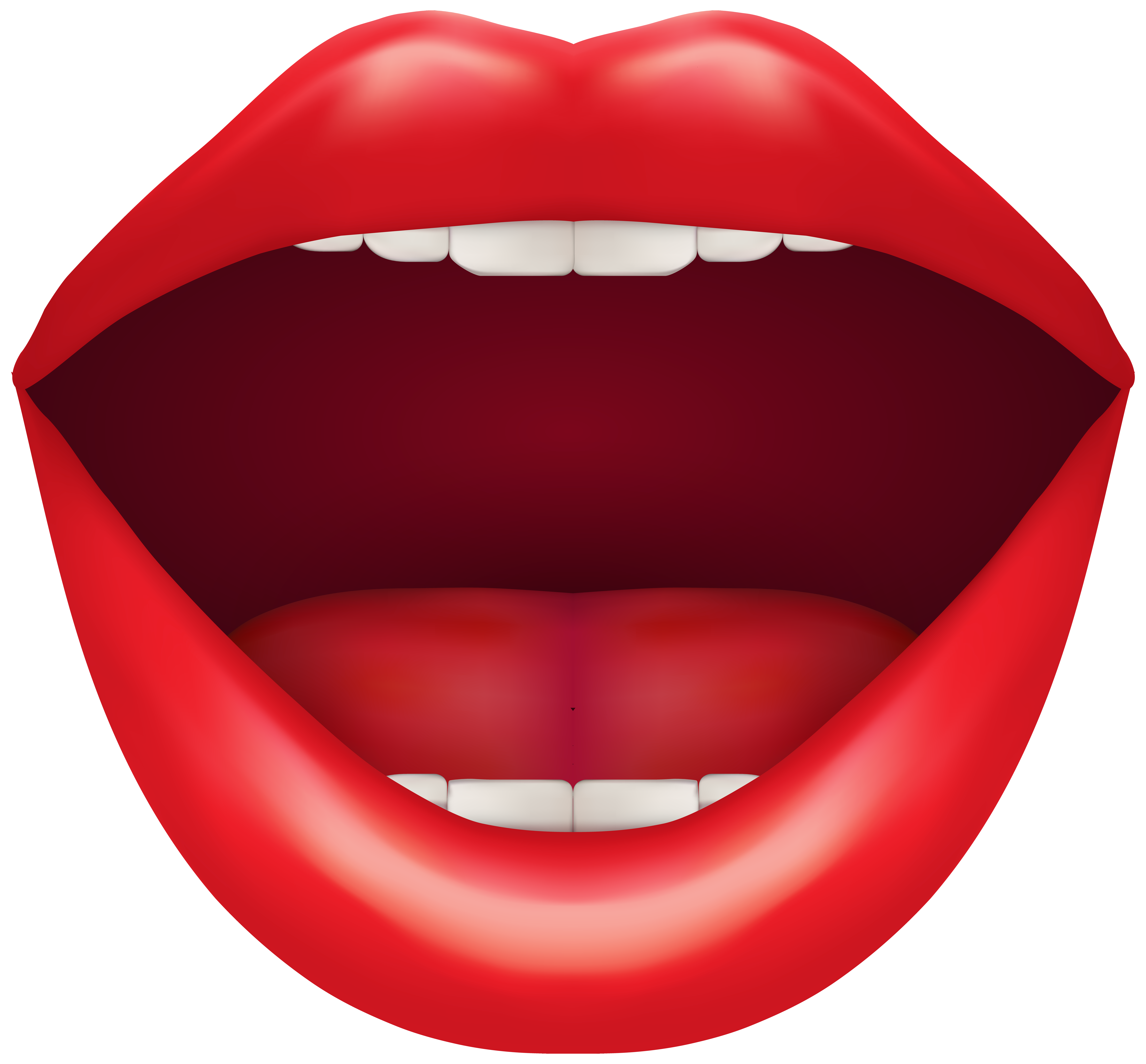 Open Red Mouth PNG Clip Art.