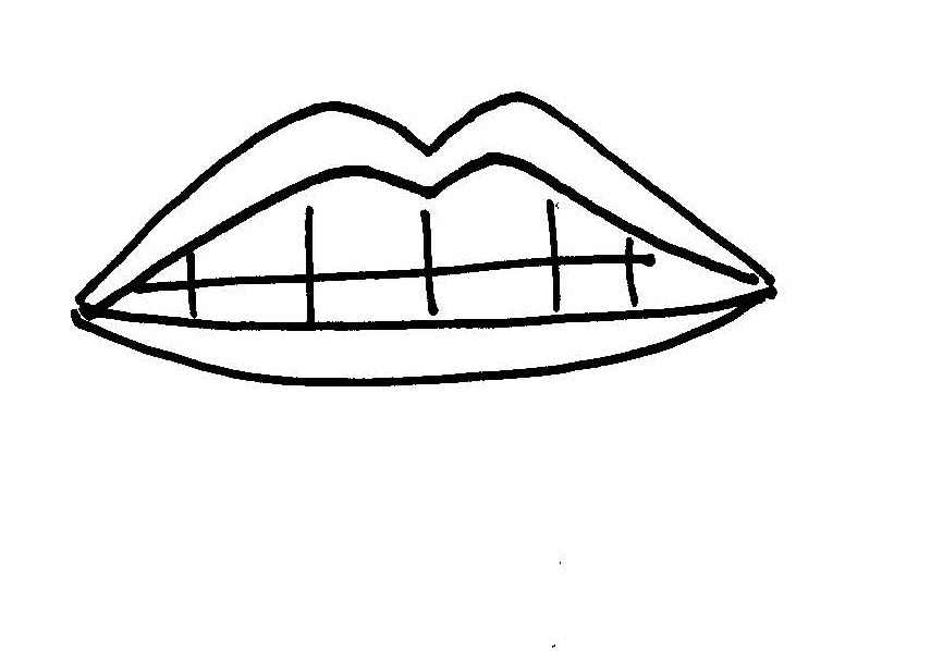 Free Lips Clipart Black And White, Download Free Clip Art.
