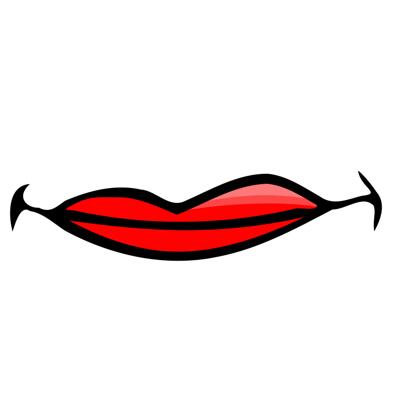 Closed Mouth Clipart.