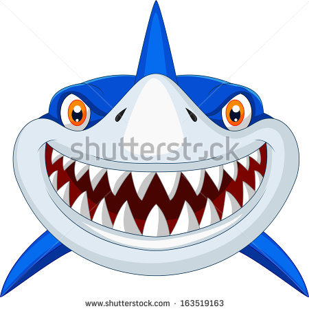 Cartoon Shark Stock Images, Royalty.