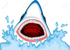 cartoon open shark jaws.