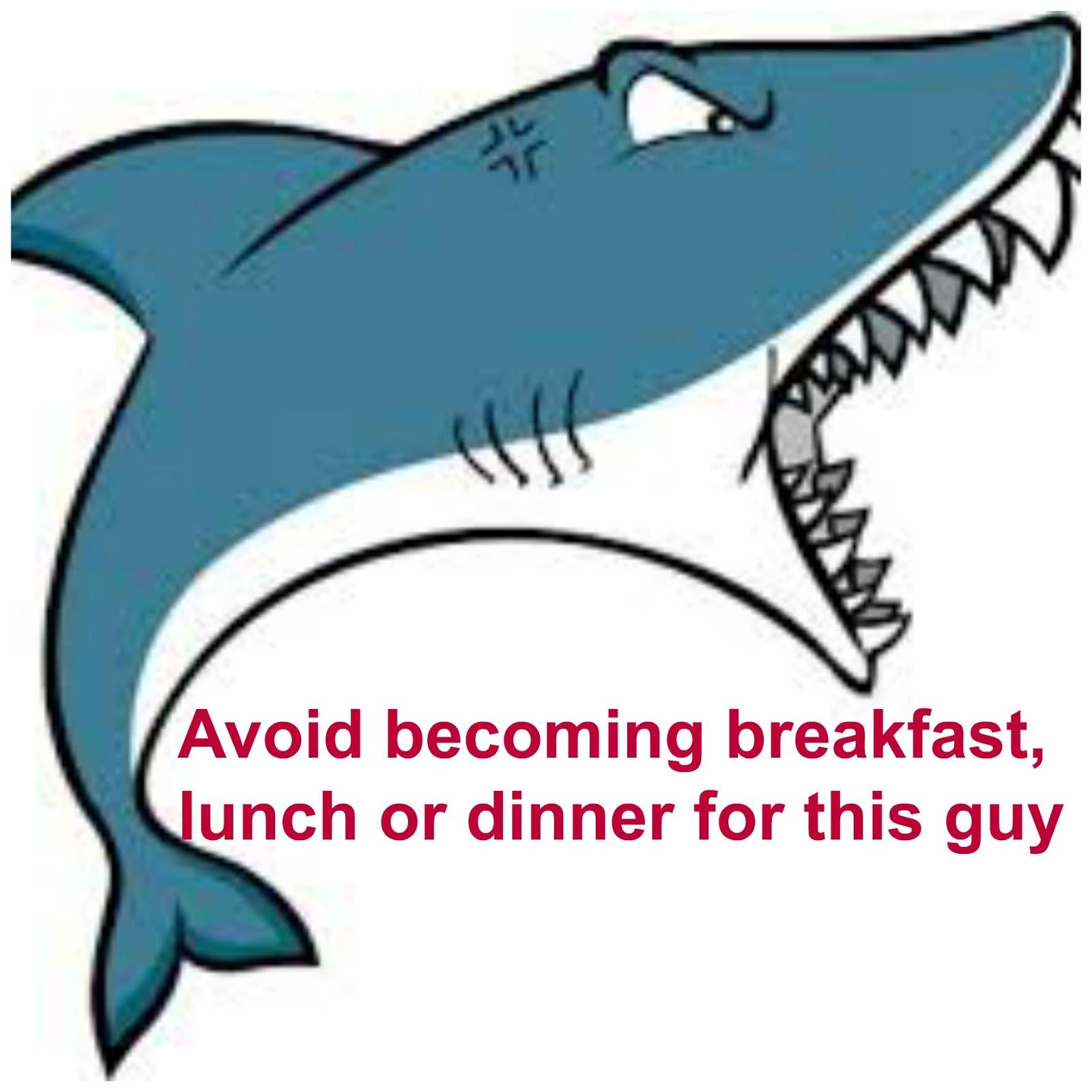 clipart mouth open shark #12