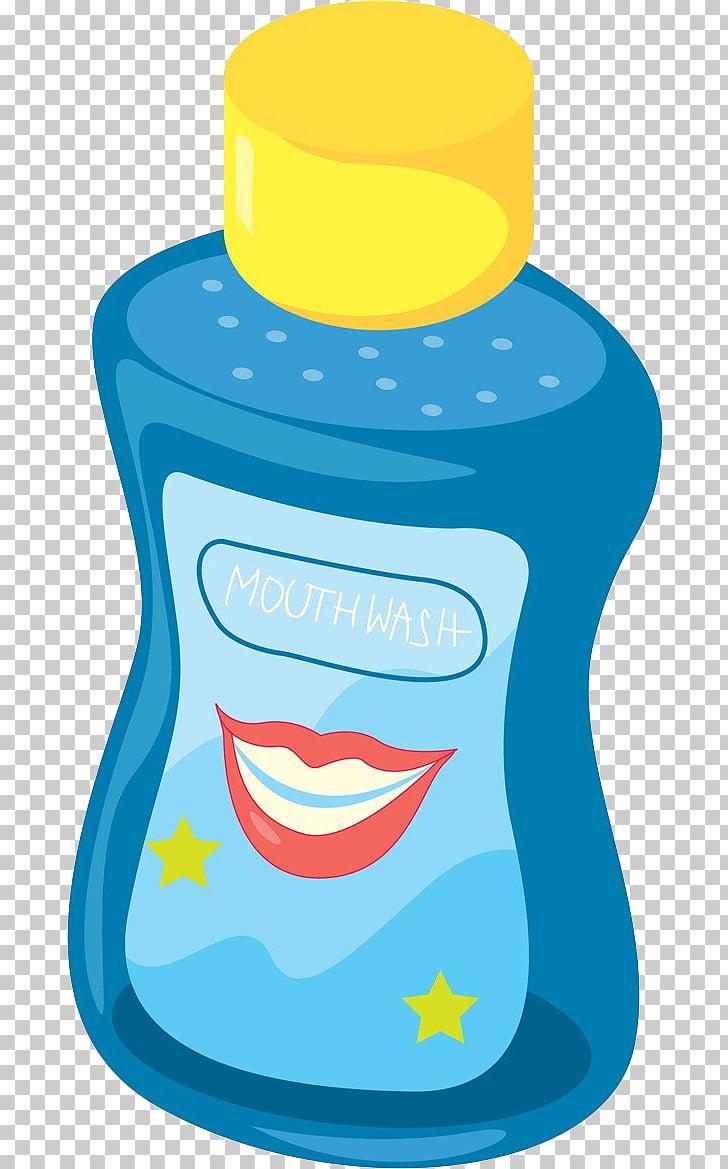 Mouthwash Toothbrush , Blue shower gel PNG clipart.