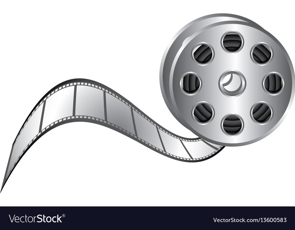Color movie film clipart icon.