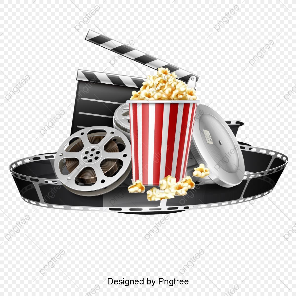Popcorn Movie Film, Popcorn Clipart, Movie Clipart, Popcorn PNG.
