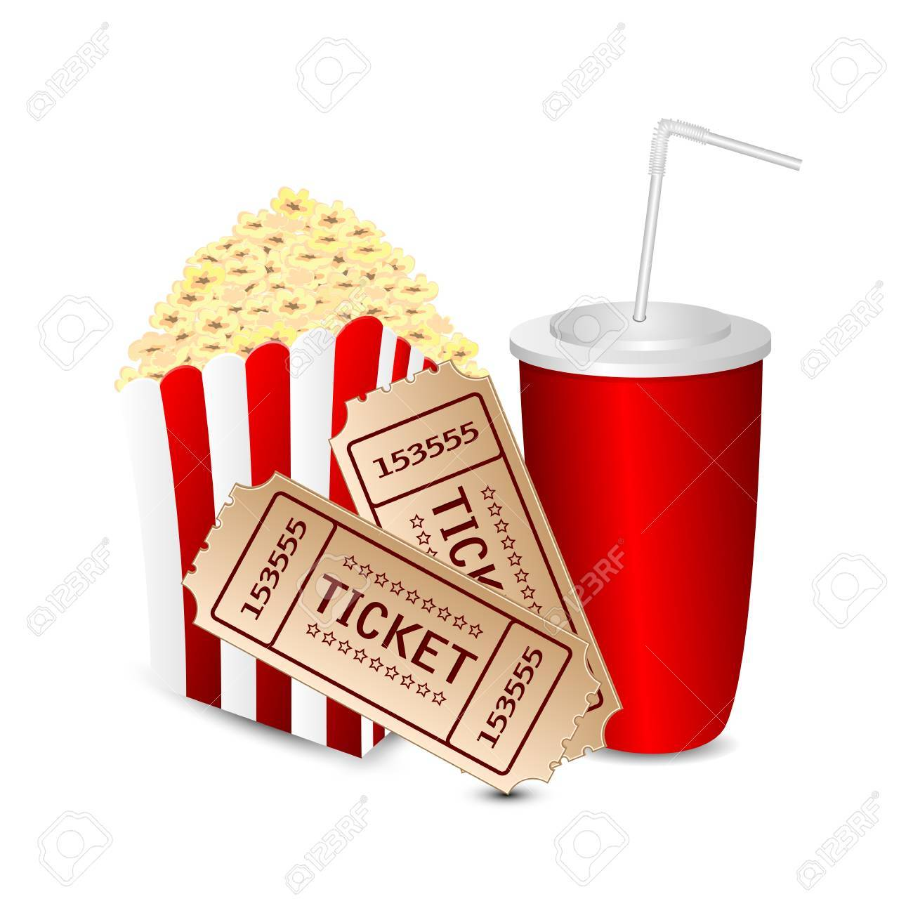 Movie tickets and popcorn clipart 3 » Clipart Portal.