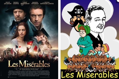 Recreating movie posters with clip art and comic sans.