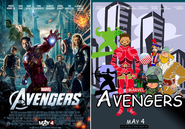 Movie Posters Recreated With Comic Sans and Clip Art.
