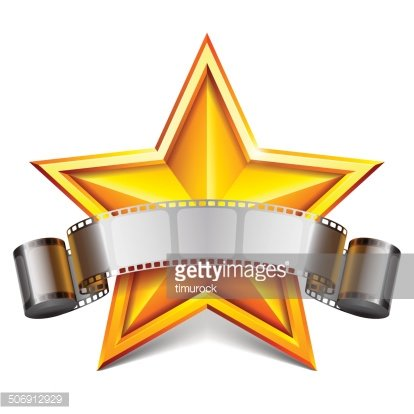 Movie star. Clipart Image.