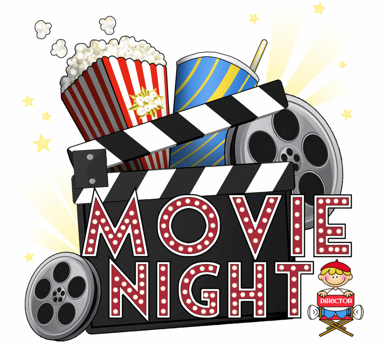 Free Movie Night Png, Download Free Clip Art, Free Clip Art.