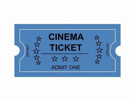 Movie Ticket Clip Art.