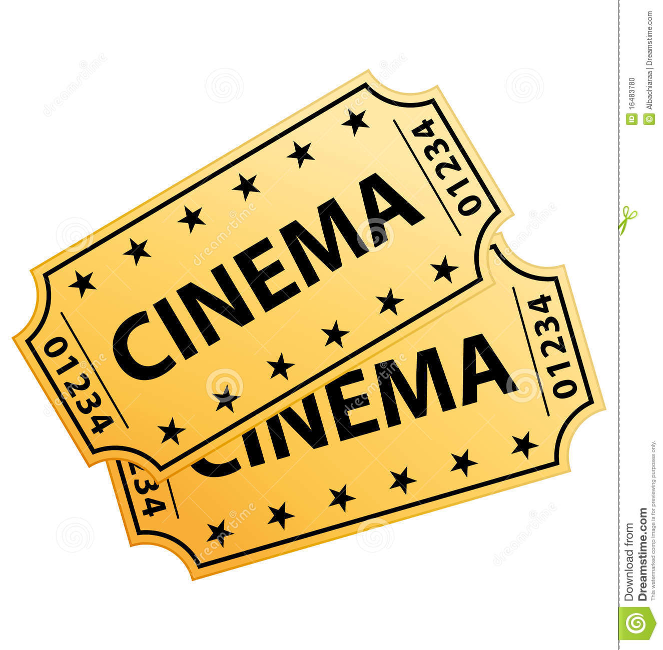 Cinema Movie Tickets Clipart.
