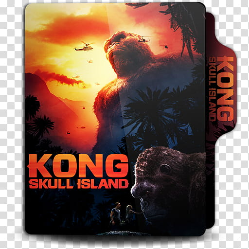 Movies Folder Icon , Kong Skull Island transparent.