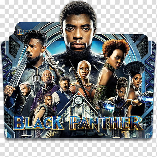Black Panther Folder Icon Pack, Black Panther v transparent.
