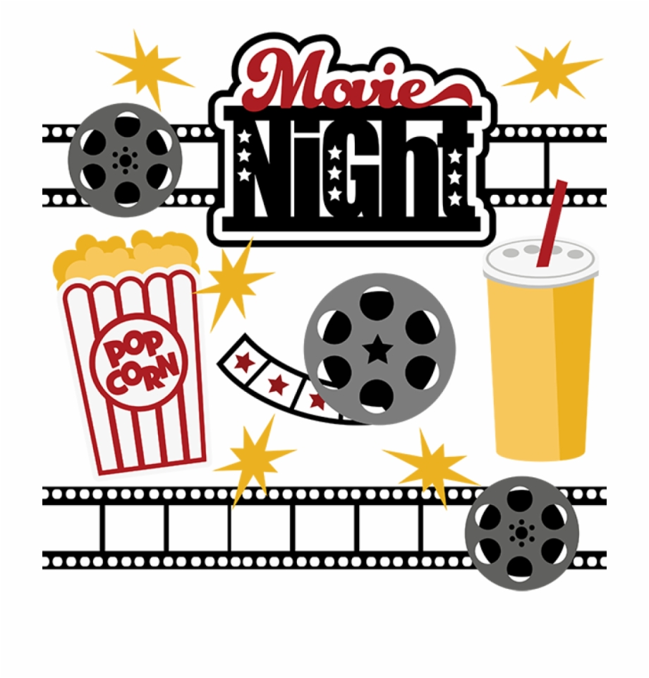 Movie Night Svg Collection Svg Files For Scrapbooking.