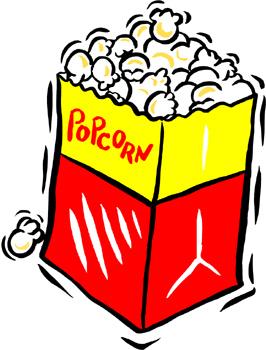 Movie Theater Popcorn Clipart.