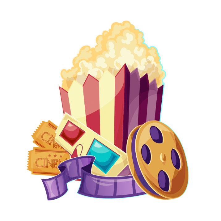 Movie ticket with popcorn Clipart Png Free Download searchpng.com.