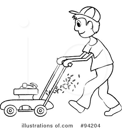 Lawn Mowing Clipart #94204.