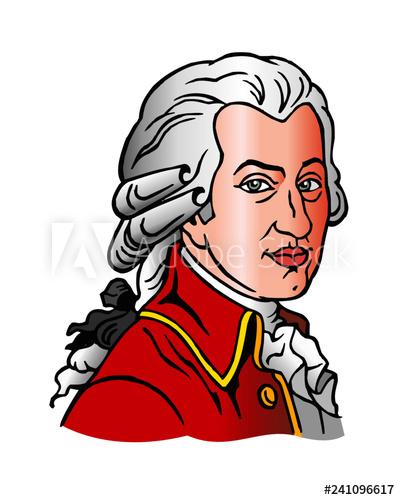 Wolfgang Amadeus Mozart portrait of a composer Austria.