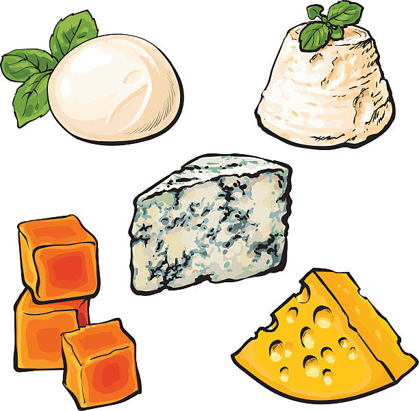 Best Mozzarella Illustrations, Royalty.