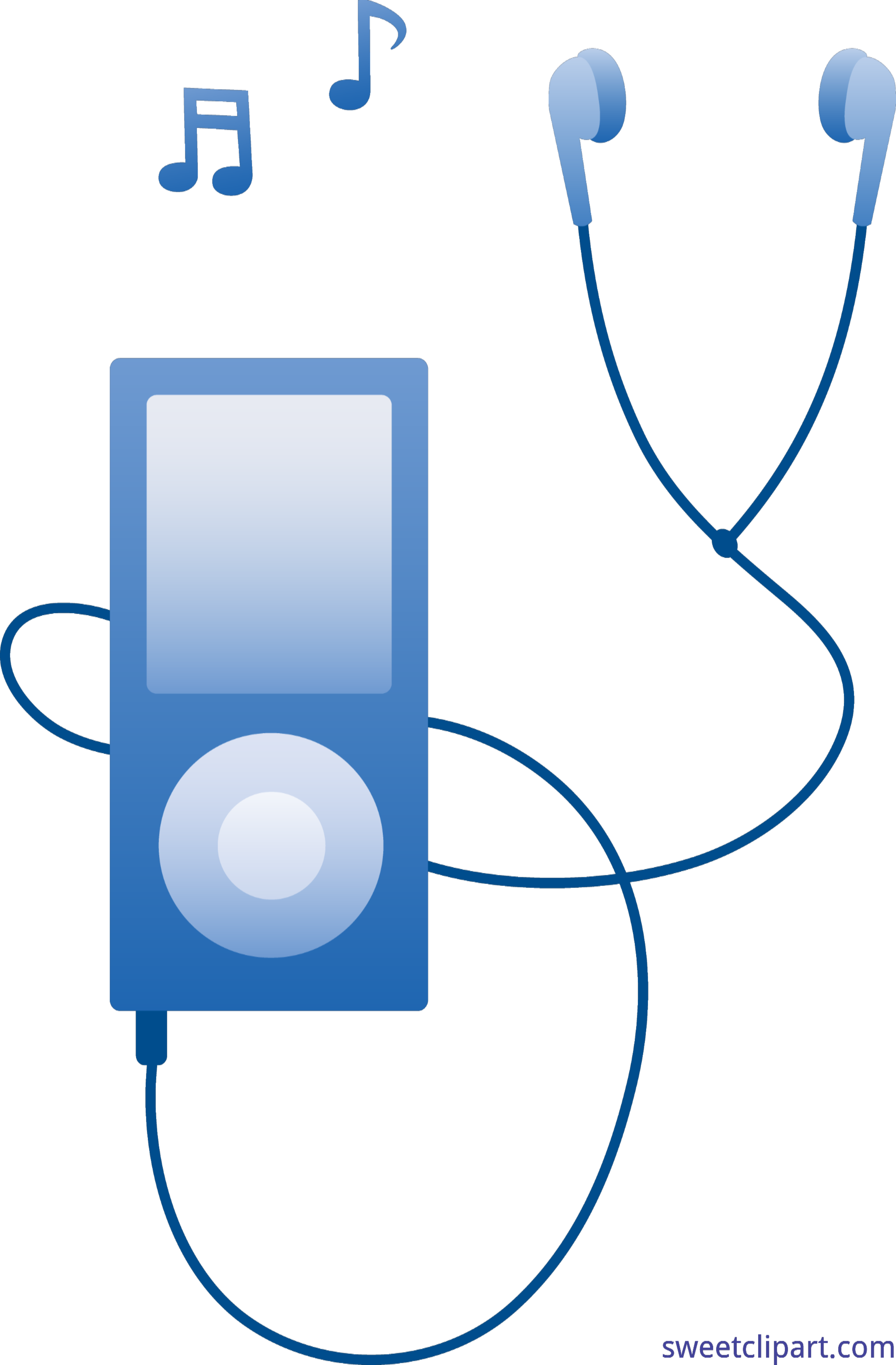 Mp3 Player Blue Clip Art.