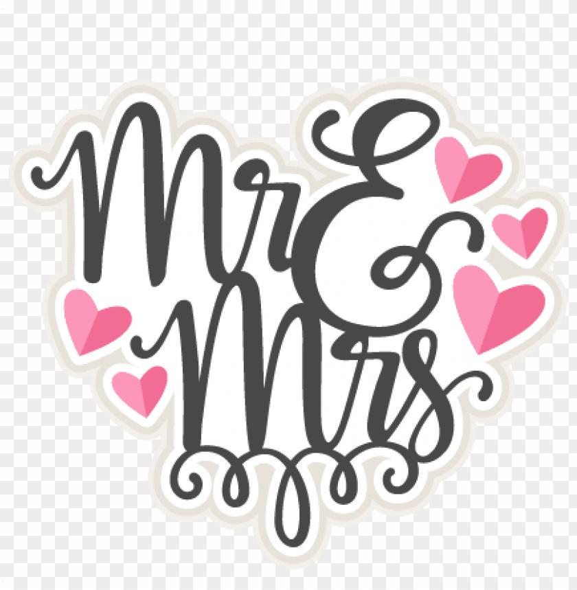 mr & mrs title svg scrapbook cut file cute clipart.