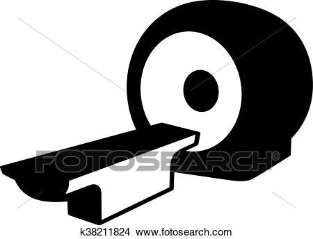 MRI scanner Clipart.