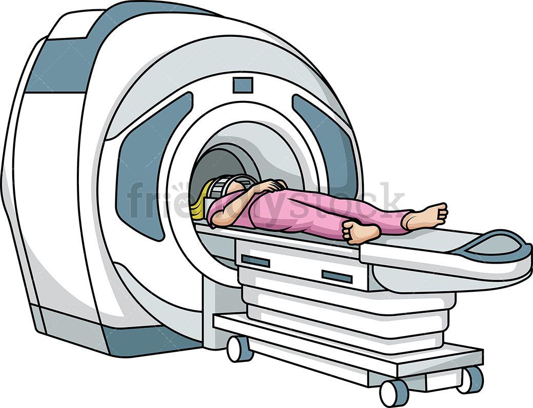 Woman In MRI Scanner.